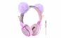 Casti urechiuse ursulet cu fir pentru copii cu varsta peste 3 ani, Linx Technologies, universale, mov
