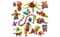 Set creativ din scaieti  Thorn Ball Clusters - 200 piese