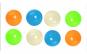 Set 4 Bile Fluorescente - Squishy Ball, Anti-stres, Anti-Anxietate, Multicolor