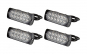 Set 4 buc lampa stroboscopica LED Profesionala 12 LED 12-24V Galbena protectie IPX-4