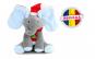 Elefant Cucu Bau, Peek a Boo, canta si vorbeste in Limba Romana - Editie de Craciun - Gri Albastru