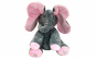 Elefant interactiv gri cu roz 25 cm