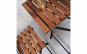 Set mobilier bistro 2+1, lemn si metal
