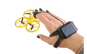 Drona Elicopter cu Inductie, Control prin Gesturi, Telecomanda tip Ceas, Rotire 360 Grade, Leduri Incorporate, Galben