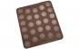Tava copt Macarons, foaie copt macarons, Quasar&Co., 27 de forme rotunde, forma pentru prajituri/fursecuri, folie macarons rezistenta la temperaturi de pana la 250 grade C, 29 x 26 cm, tava silicon, maro
