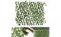 Gard viu artificial extensibil vesnic verde 180x60 cadou ghirlanda