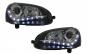 Set 2 faruri Dayline LED DRL compatibil cu VW Golf V 5 Jetta 5 (2003-2009) Negru