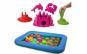 Nisip Kinetic + tava gonflabila ce stimuleaza si dezvolta calitatile motrice si creative ale copiilor, motricitatea fina si cea speciala
