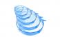 Set 6 capace din silicon, pentru vase fara capac, extensibile, reutilizabile - albastru transparent