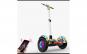 Scooter electric tip Segway cu maner, 10 inch, boxe, bluetooth, Lumini LED, functie AutoBalance prin telecomanda