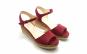 Sandale piele intoarsa visinie