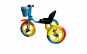 Tricicleta din metal cu roti mari si pedale, multicolora
