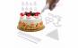Set decoratie tort 100 piese compus din 8 varfuri asortate, 3 forme de cutite, decoratiuni inimioare, forme, litere