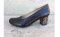 Pantofi negri, din piele naturala, cu toc imbracat in piele naturala, cod 635 negru