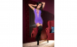 Purple Seamless Minidress
