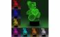 Lampa De Veghe 3D LED, Ursulet cu inimioara, 7 Culori, Lumina Ambientala, Alimentare USB cu Incarcator priza si/sau 3 baterii AA