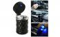 Scrumiera auto LED prindere 2 in 1 : grila ventilatie sau in suportul de pahar