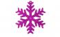 Ornament de brad Craciun fulg purpuriu