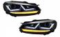 Set 2 faruri Osram LED compatibil cu VW Golf 6 VI (2008-2012) Crom LEDriving Semnal Dinamic