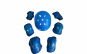 Set de protectie pentru copii, genunchiere, cotiere, aparatori maini si casca reglabila, albastru