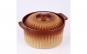 Cratita ceramica rotunda, capac, 2L, 24 cm