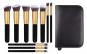 Set 10 Pensule Profesionale Top Quality Kabuki cu Etui, Gold Edition