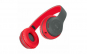Casti audio P47, wireless, Bluetooth, Negru-rosu