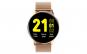"""Ceas Smartwatch TND Wear S30, Termometru, Rezistent la apa, Heart Rate, ECG, Oxygen Control, Pedometru, ecran 1.28"""" TFT, baterie 7 zile, 230mAH, Bratara extra silicon, gold"""