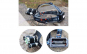 Lanterna Frontala de Cap , cu 3 x T6 Led Cree , Rotire 90 grade + 2 acumulatori 18650 inclusi, incarcator de masina inclus