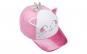 Sapca pentru copii, model pisica cu roz
