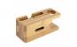 Suport de incarcare din bambus pentru 2 dispozitive Crem