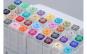 Set markere pentru colorat cu 2 capete Art Marker , 80 culori