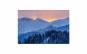 Tablou Canvas Rasarit in Bucegi 95 x 125 cm rama de lemn ascunsa margini printate