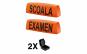 KIT complet iluminat format din caseta Scoala, caseta Examen si Ventuza, Negru/portocaliu, eCBR