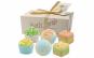 Set 6 bombe de baie efervescente organice cu unt de Shea si uleiuri esentiale cu aspect de prajiturele diferite arome, Beauty & Care, verde
