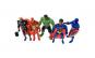 Set 5 eroi Hero Justice, 14 cm