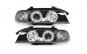 Set 2 faruri compatibil cu BMW E39 5er 95-00, pozitie angeleyes, negru