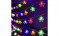 Instalatie LED fulgi de zapada colorati