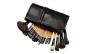 Set de 24 Pensule Profesionale pentru machiaj din par natural, Top Quality Natural Wood