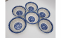 Set 6 boluri ceramica model floral