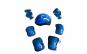 Set de protectie pentru copii, genunchiere, cotiere, aparatori maini si casca reglabile, albastru