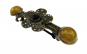 Clama de par bronz model floare cu jad