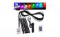 Kit 4 benzi LED RGB Interior/Exterior, IP68, Dimmer Muzical, Superbrite, Montaj interior sau exterior