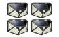 Set 4 lampi cu incarcare solara, senzor de miscare si amurg/lumina, stare de veghe, 3 moduri de iluminare, 114 x LED, KATHODE