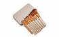 Set 12 pensule machiaj profesionale make-up pentru fond de ten, gene, mascara, contur, fard de obraji, pleoape, in cutie de metal