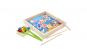 Joc Montessori 2 in 1 Pescuit magnetic si Mozaic cu bile, lemn bine finsat, lacuri ecologice