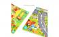 Joc puzzle Placa distractiva din lemn cu fructe si masinute