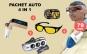 Pachet auto 4 in 1: Modulator FM handsFree cu buletooth CARG7 + aspirator auto + ochelari HD Vision de noapte + priza bricheta tripla