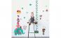 Sticker decorativ, masuratoare cu animalute  153 cm, 123STK