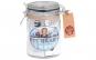 Borcan sticla cu inchidere ermetica, Senza, capac cu garnitura cauciuc, 700 ml, h14.05 cm, d9 cm